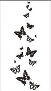 Рисунок для пескоструя «Бабочки», #25983