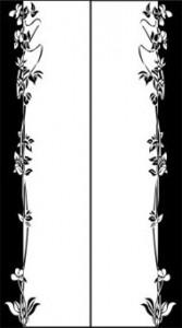 Орнамент для двудверного шкафа-купе, #25984