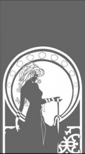 Рисунок на стекле «Дама»,  #25878