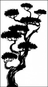 Рисунок на стекле «Сосна», #25991