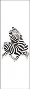 Рисунок на стекле «Зебры», #25993