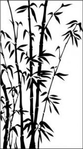 Рисунок на стекле «Бамбук», #26383