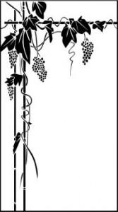 Рисунок на стекле «Виноград», #26384