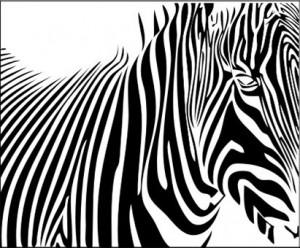 Рисунок на стекле «Зебра», #26385