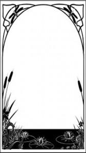 Рисунок на стекле «Пруд», #26386