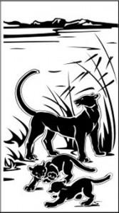 Рисунок на стекле «Пантера», #26388