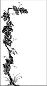 Рисунок на стекле «Виноград», #26394