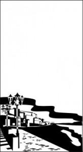 Рисунок на стекел «Набережная», #26409