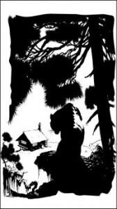 Рисунок на стекле «Избушка», #26411