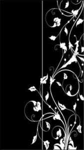 Цветочный орнамент для зеркальных дверей двустворчатого шкафа, #26421