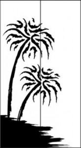 Рисунок для дверей двустворчатого шкафа «Пальмы», #26422