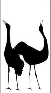Рисунок для пескроструя «Журавли», #21842