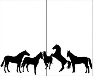 Рисунок для пескроструя «Лошади», #21843